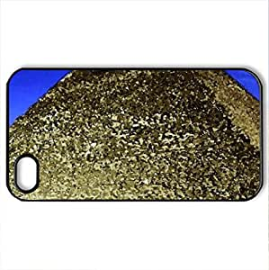 Pyramid of Khufu - Case Cover for iPhone 4 and 4s (Ancient Series, Watercolor style, Black)