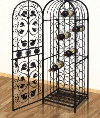 Amazoncom Skb Family Metal Wine Cabinet Rack Wine Stand For 45