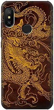 Innovedesire Chinese Dragon Funda Carcasa Case para Xiaomi Mi A2 Lite (Redmi 6 Pro)