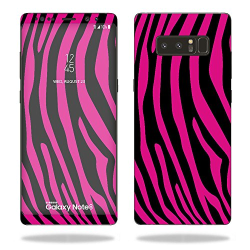 - MightySkins Skin for Samsung Galaxy Note 8 - Pink Zebra | Protective, Durable, and Unique Vinyl Decal wrap Cover | Easy to Apply, Remove, and Change Styles | Made in The USA
