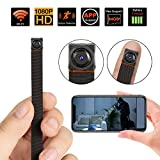 Spy Hidden Camera WiFi, Mini Hidden Camera Wireless 1080P HD Monitoring Security Camera with Motion Detection Surveillance Cam Nanny Camera for Home Office, Fit Indoor & Outdoor