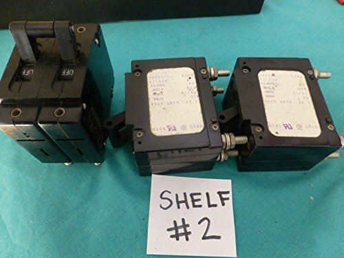 Circuit Breakers LOT OF 3 10a 250v 50/60 hz Airpax 2 pole trip 12.5 from Airpax