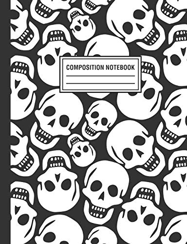 Composition Notebook: Skull Pattern Gothic Composition Book For Students College Ruled]()