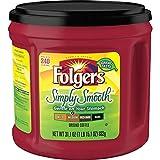 Folgers Simply Smooth Coffee, Medium Roast Ground Coffee, 31.1 Ounces