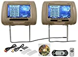 Cheap New Rockville RDP931-BG 9 Beige Car DVD/USB/HDMI Headrest Monitors+Video Games