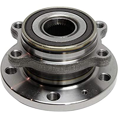 Wheel Hub Compatible With 2012-2015 Volkswagen Beetle & 2015-2020 Audi Q3 Set of 4 Wheel Hubs Includes ABS encoder With Ball Bearing 36-Spline: Automotive