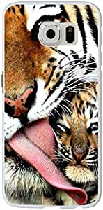 S6 Edge Case Samsung Galaxy S6 Edge Hard Case 2015 New Unique Design Personalized Cool Protective Cover Tiger's motherly love By LO.O Case