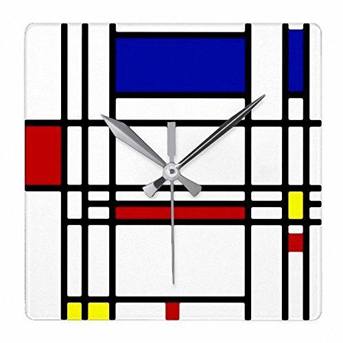 ピエトモンドリアン『 コンポジション 』の壁掛け時計:ピクチャークロック(世界の名画シリーズ) (B) [並行輸入品] B07CRL81BDB