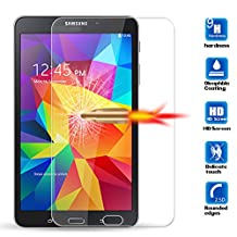 """[1 Pack] Galaxy Tab 4 - 8.0"""" Screen Protector, ANGELLA-M HD [Crystal Clear] Tempered Glass Screen Protector for Samsung Galaxy Tab 4 - 8.0"""" T330 T331 T337"""