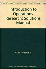 Operations Research an Introduction 10th Edition Taha Solutions Manual