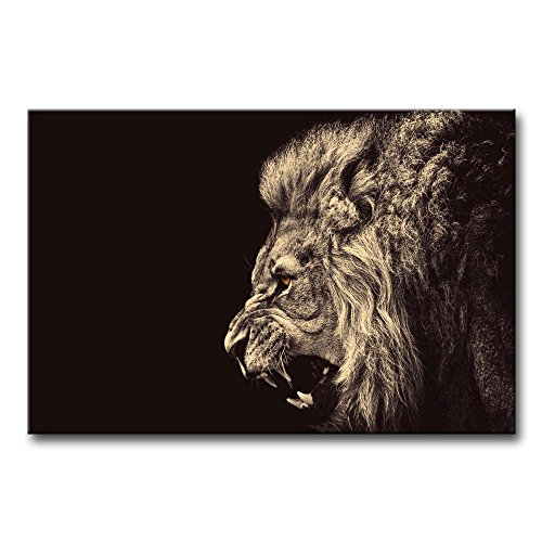 Lion Picture Roar (So Crazy Art Wall Art Painting Roar Lion Pictures Prints On Canvas Animal The Picture Decor Oil For Home Modern Decoration Print For Bathroom)