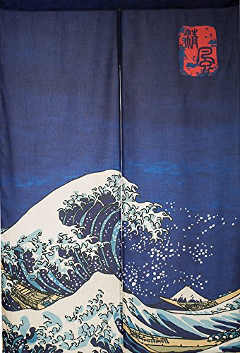 KARUILU home Japanese Noren Doorway Curtain / Tapestry 33.5