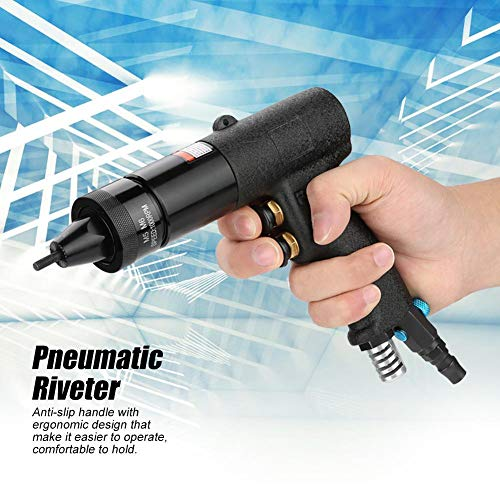 Pneumatic Riveting Gun, Pull Nut Automatic Air Riveter Nut Gun Tool, Air Pull Rivet Nut Gun Riveting Tool Riveter 1/4, 1000rpm(M5/M6) by Acogedor (Image #3)