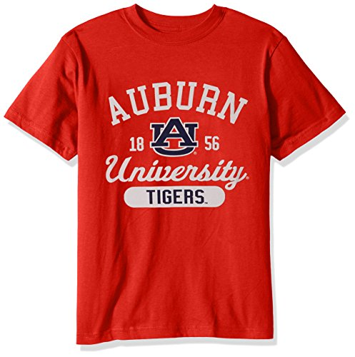 College Kids NCAA Auburn Tigers Youth Short Sleeve Tee, Size 8-10 /Small, Orange