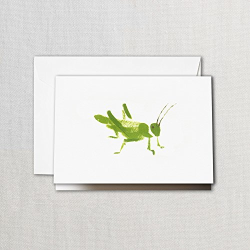 - Crane & Co. Brushstroke Grasshopper Note- Pack of 20 Cards