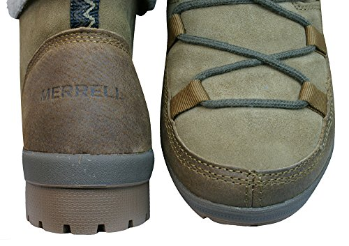 Merrell Emery Lace Warmlined Boots Otter Leather/Suede EF2iFFgB