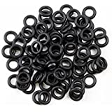 Hapurs Rubber O-Ring Sound Dampeners for Cherry MX Key Switch,135-Pieces,Black