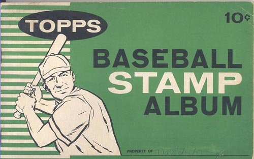 Topps Baseball Stamps - 1961 Topps Baseball Stamp Album (Contains 23 Stamps)