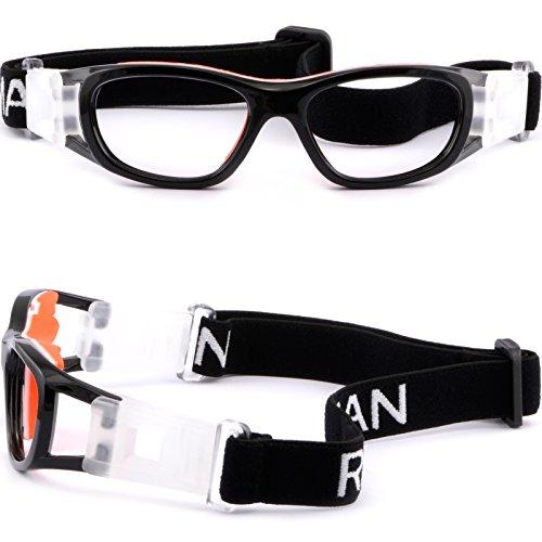 95cfe611500 Amazon.com  Kids  Rx Sports Protection Goggles Prescription Safety Glasses  Wrap Around Black  Clothing