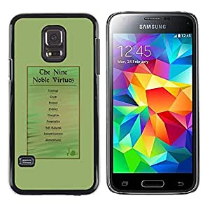 Paccase / SLIM PC / Aliminium Casa Carcasa Funda Case Cover para - noble god medieval virtue man green - Samsung Galaxy S5 Mini, SM-G800, NOT S5 REGULAR!