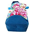✨BARbee✨Taiwanese Vintage Design Handmade Floral Pattern Drawstring Hand Purse Pouch Bag