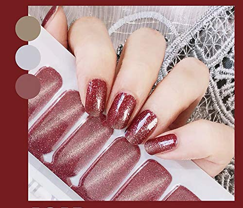 (Color Lab 22PCS ADHESION Nail Art Transfer Decals Sticker DIY Nail Polish Strips,Nail Wraps, Nail Patch, 100% Real Nail polish applique for Manicure, Wedding, Party, S612 Night Breeze)