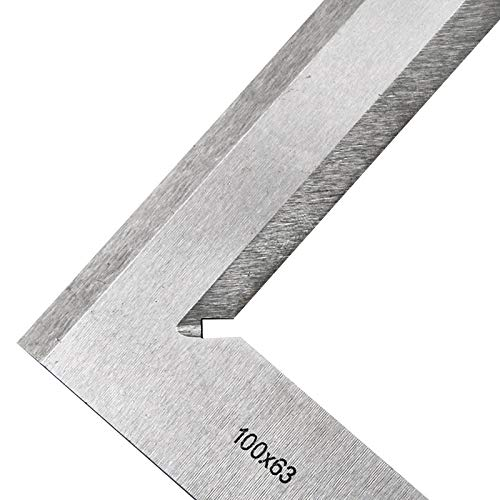 Percetey Precision Machinist Style Magnetic Micro Square,1 Pcs 100mm x 63mm Woodworking L Shaped Beveled Edges Try Square Ruler Measuring Tool