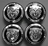 TSD 4PCS Jaguar S Type X Type Xj8 Xk8 Xkr Wheel Center Cap Black