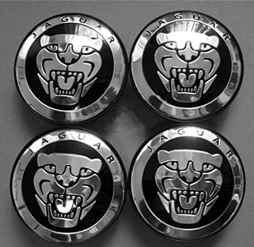 TSD 4PCS Jaguar S Type X Type Xj8 Xk8 Xkr Wheel Center Cap Black by TSD