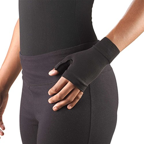 Truform Lymphedema Compression Gauntlet, 20-30 mmHg Post Mastectomy Support, Black, Small (20-30 mmHg) ()
