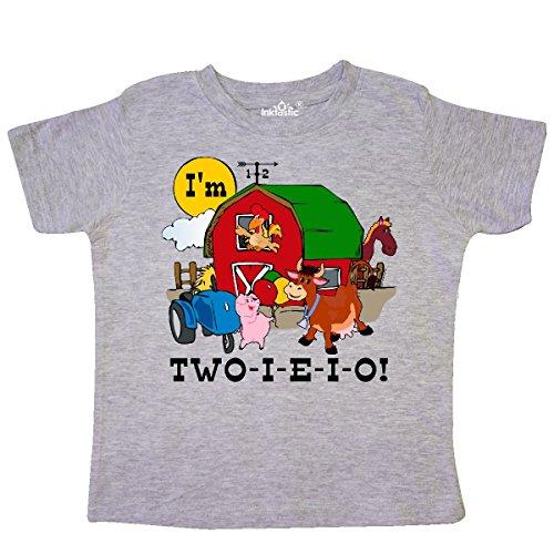 Eieio Farm - inktastic - Two-I-E-I-O Toddler T-Shirt 2T Heather Grey c918