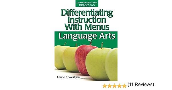 Amazon.com: Differentiating Instruction With Menus: Language Arts ...