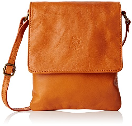 Girly HandBags Paola - Bolso bandolera Mujer Marrón (Tan)