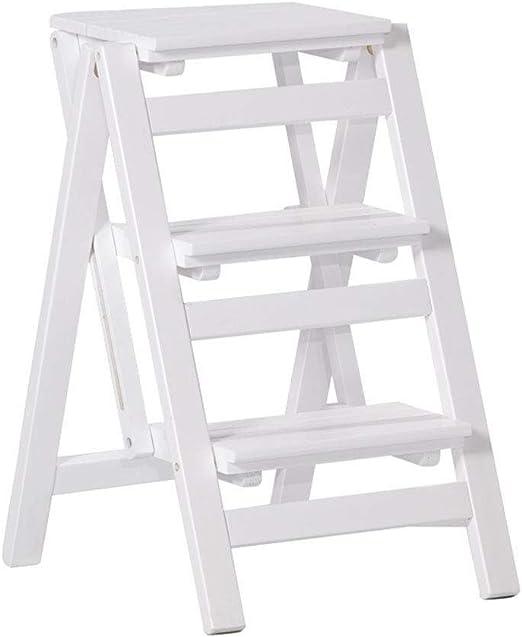 Llslls Creatividad moderna Silla de escalera de 3 niveles plegable Asiento de banco Utilidad Multifuncional, resistente y duradero, liviano, transportable, colocación de artículos Ideal for ahorrar es: Amazon.es: Hogar