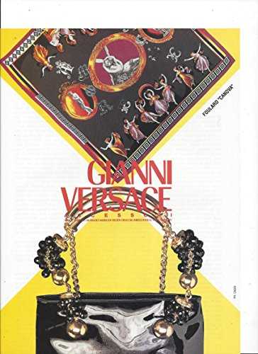 (PRINT AD For 1991 Gianni Versace Foulard Canova Accessories)