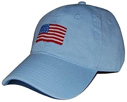 American Flag Needlepoint Hat in Sky Blue by Smathers   Branson at Amazon  Women s Clothing store  d79aa5a1ae