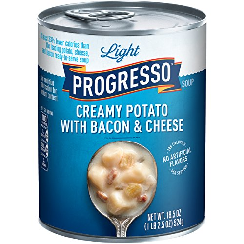 Progresso Low Fat Light Creamy Potato with Bacon & Cheese Soup 18.5 oz Can