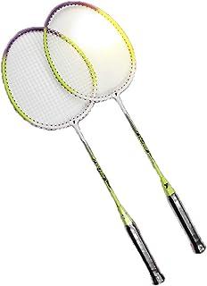 BS-Sport-4 Badminton Raquette Set Stylistique Fournitures Enfants Jouets Famille Raquette en Ferroalloy Formation des Étudiants Plume Tir 1 Paire