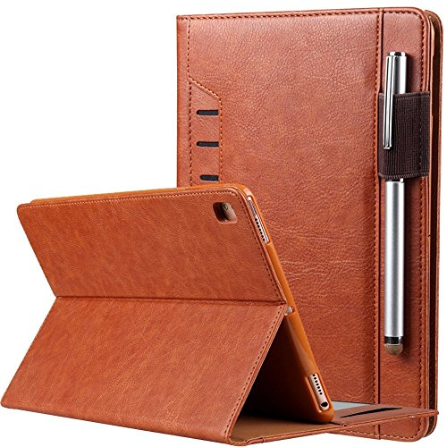 9.7'' iPad Air Case Smart Cover,Folio Case Smart Stand Case [Rugged Protective][Well Made] Slim Cover PU Leather Case with Card Slot and Hand Strap for 2017&2018 iPad/iPad Pro 9.7/iPad Air/Air 2 by Hulorry