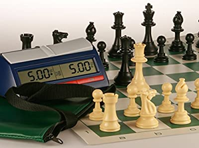 Regulation Chess Set & Timer Combo