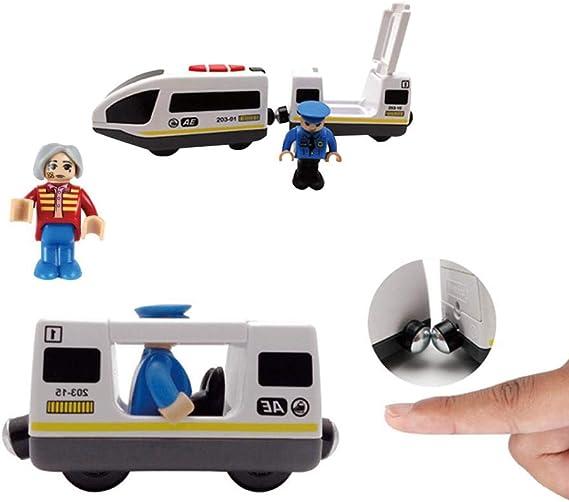 Gar/çon /électrique /à t/él/écommande de train de commande jouet-compatible avec pour Thomas IKEA BRIO en bois piste par Libertey