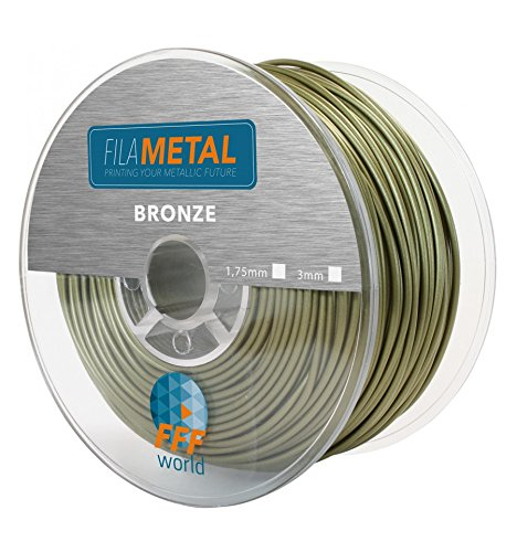 FilaMETAL Bronze 250 gr. 1.75 mm Metallic finish PLA Filament for 3D Printer