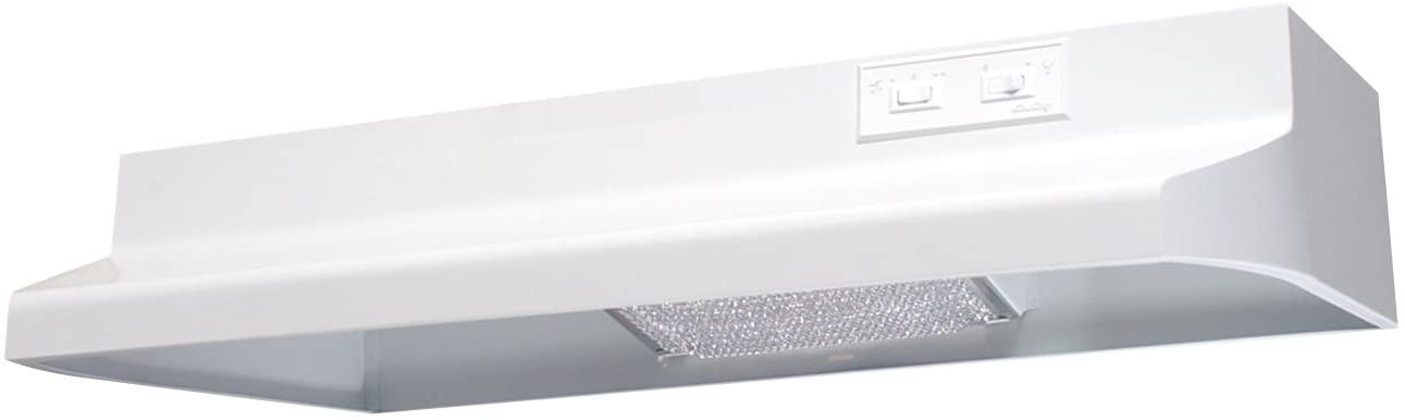 Air King AV1243 Advantage Convertible Under Cabinet Range Hood with 2-Speed Blower and 180-CFM, 7.0-Sones, 24-Inch Wide, White Finish