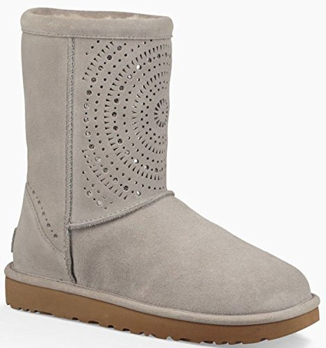 Short Ugg Womens Classic Australia (UGG Womens Classic Short Sunshine Perf Boot Seal Size 8)