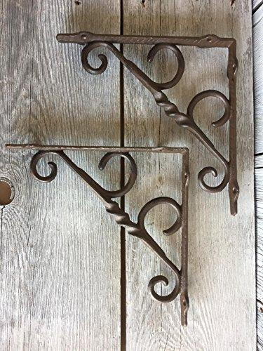 - BI03DT1118_2 - Antique Brown Cast Iron Shelf Bracket (2pcs)