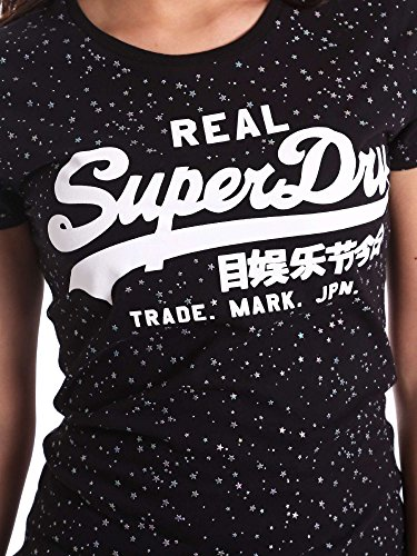 Superdry G10007FQ T-shirt Donna Nero S