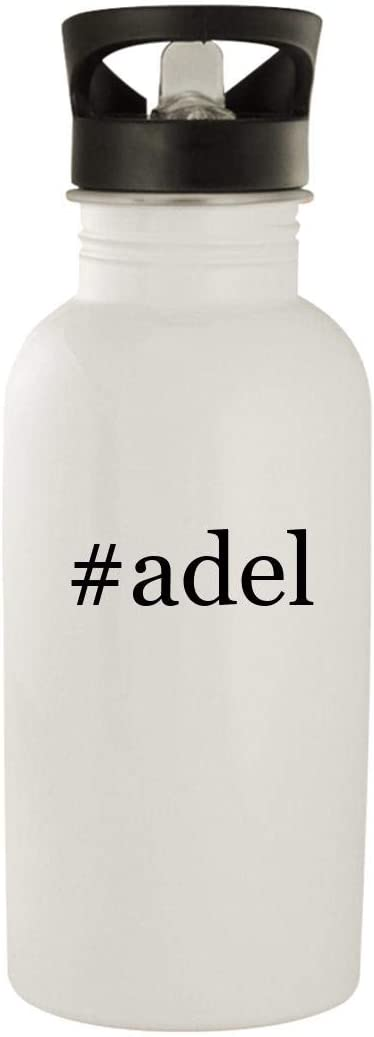 #Adel - Stainless Steel Hashtag 20Oz Water Bottle, White