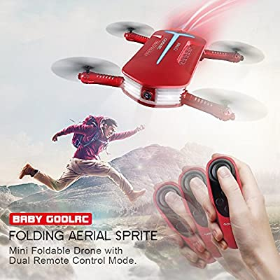 GoolRC T37 Mini Drone Foldable with WiFi Camera Live Video 2.4G 4 Channel 6 Axis Gravity Sensor RC Selfie Quadcopter RTF with Two Extra Battery from GoolRC