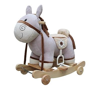 Mecedoras Música Caballo Caballo Carro de Empuje Bebé Juguete Caballo Caballo de Troya Caballo Regalo de la Edad: Amazon.es: Hogar