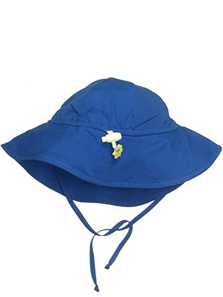 4cdf8843fdf Amazon.com  Iplay Baby Infant Toddler Unisex UPF 50 Solid Brim Sun Hat Beach  Hat by Iplay  Clothing